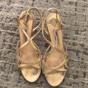 Glittery Jimmy Choo evening sandals